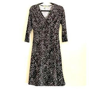 Like New Long Sleeve Faux Wrap Dress